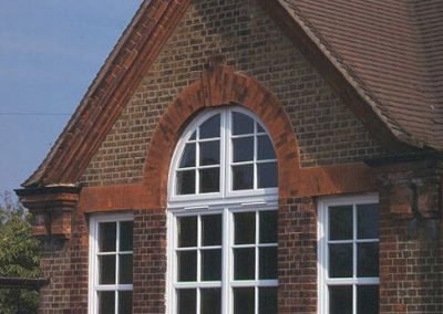 arched window with georgian bars