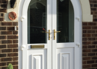 Arched French door