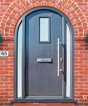 Grey Part Arched Door