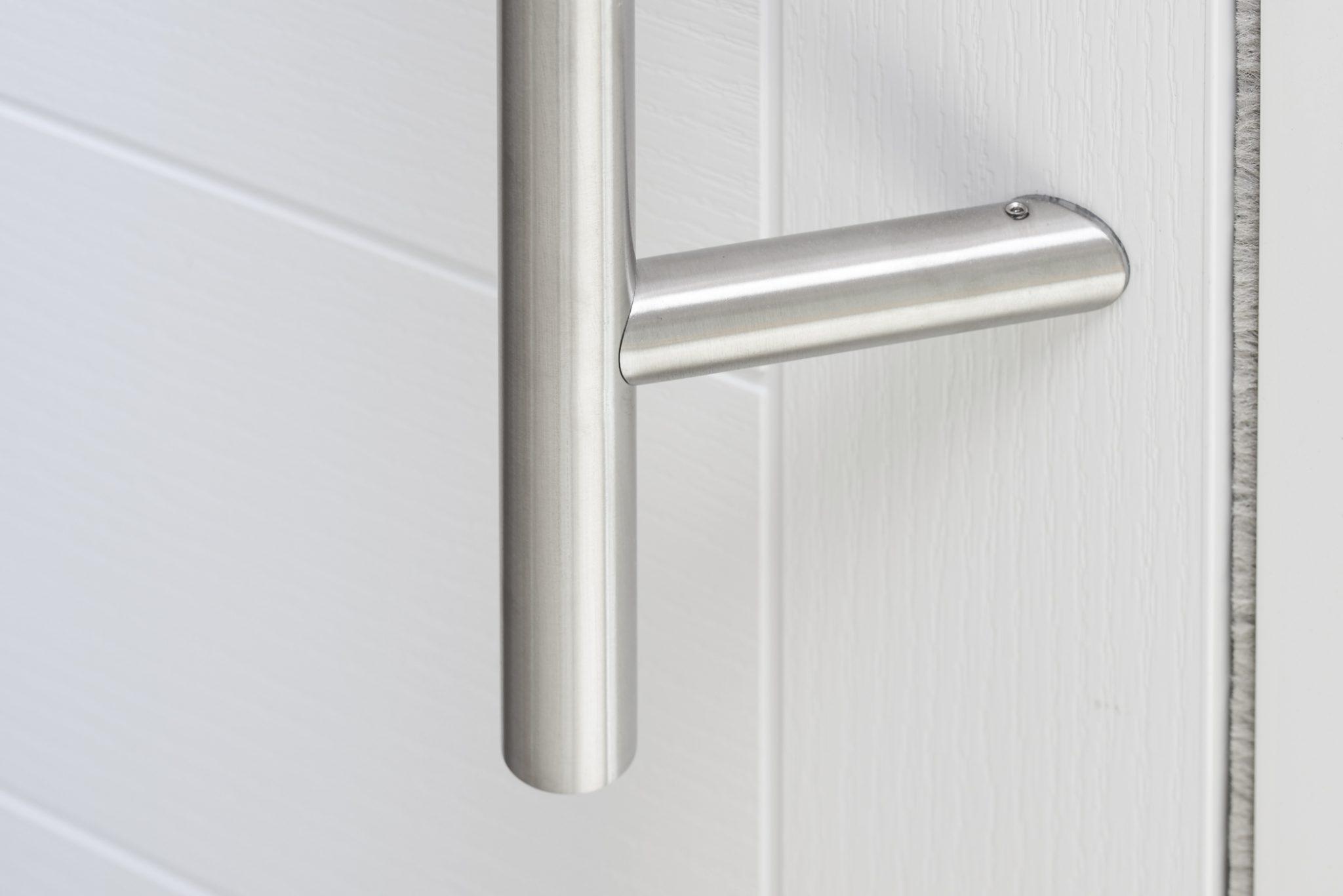 inside door. Off Set 1600mm Contemporary Stainless Steel Door Pull Handle. Inside