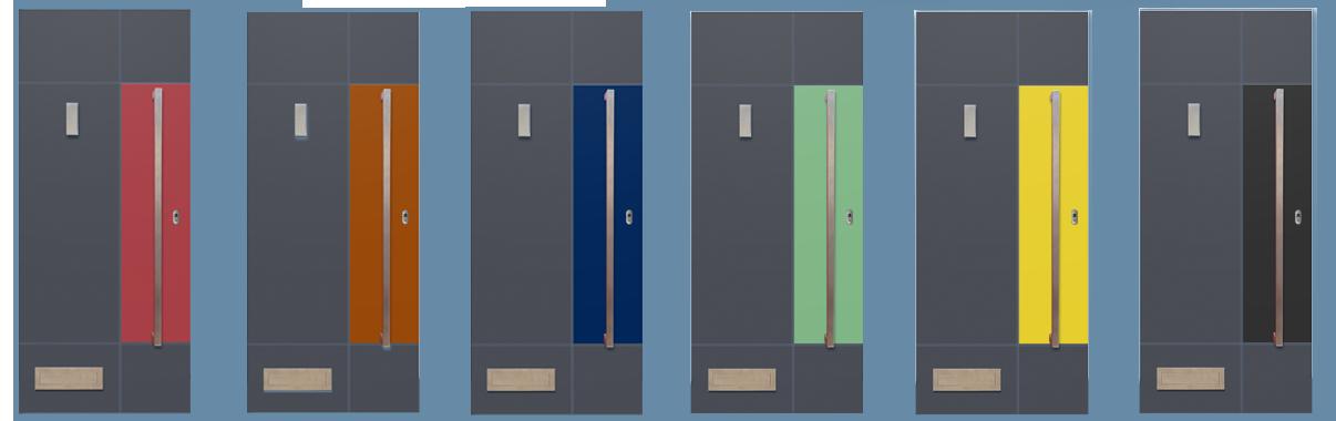 Aluminium V Composite Smooth Door Composite Doors