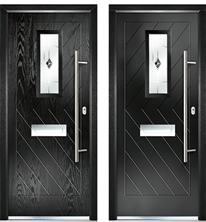 Which Force 8 door is composite and which is aluminium?