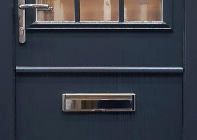 stable door in anthracite grey with georgian bars