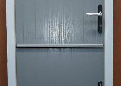 stable door in grey