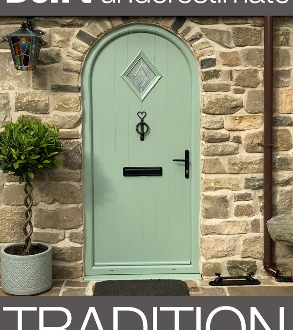 Cottage Door With An Arched Frame