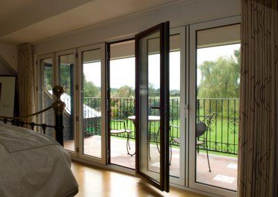 Internal view of Bi-folding doors