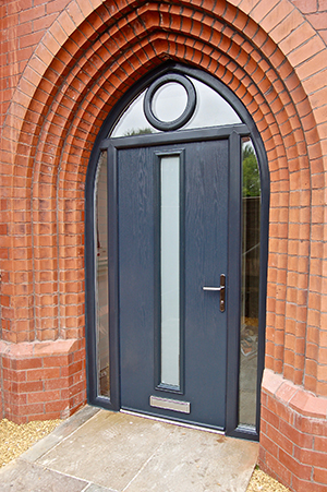 Genoa Door In Anthracite Grey With Arched Frame