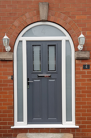 Oxford Door In Shadow Grey With Arched Frame