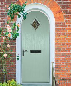 Arched composite Door
