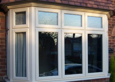 Bay Window by Force 8 with traditional white uPVC