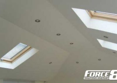 Force 8 lightweight replacement conservatory roofs with skyline windows and lights