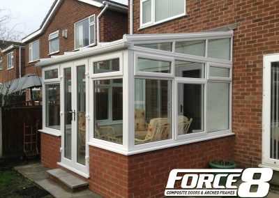 conservatories, orangeries, and roof systems using uPVC traditional white