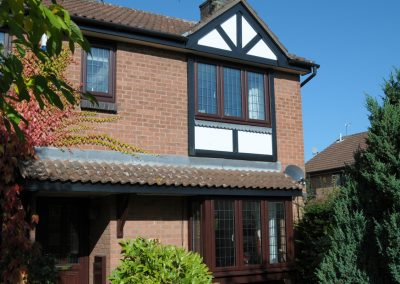Wood Finish UPVc windows