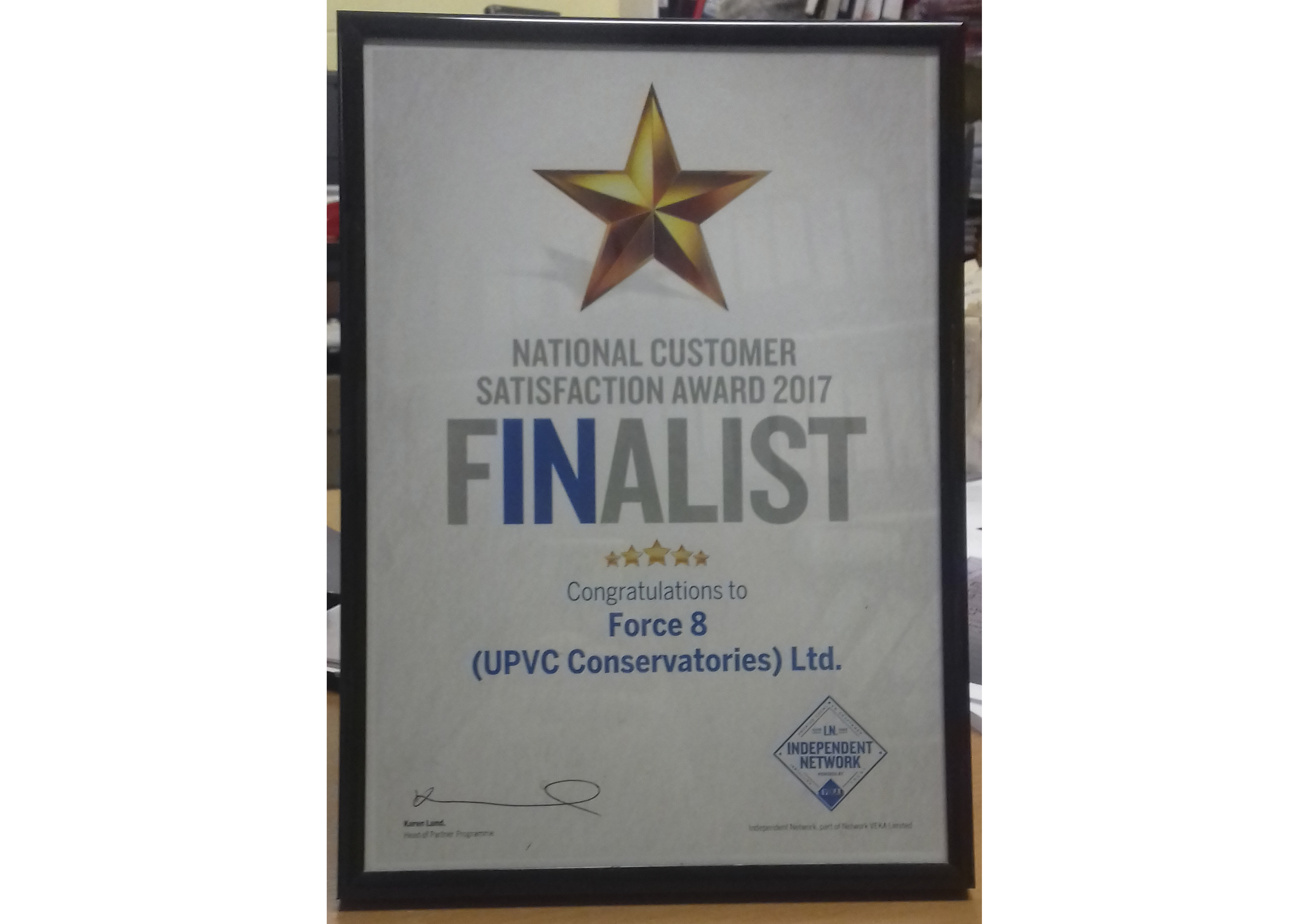 IN VEKA National Customer Satisfaction Award Nomination