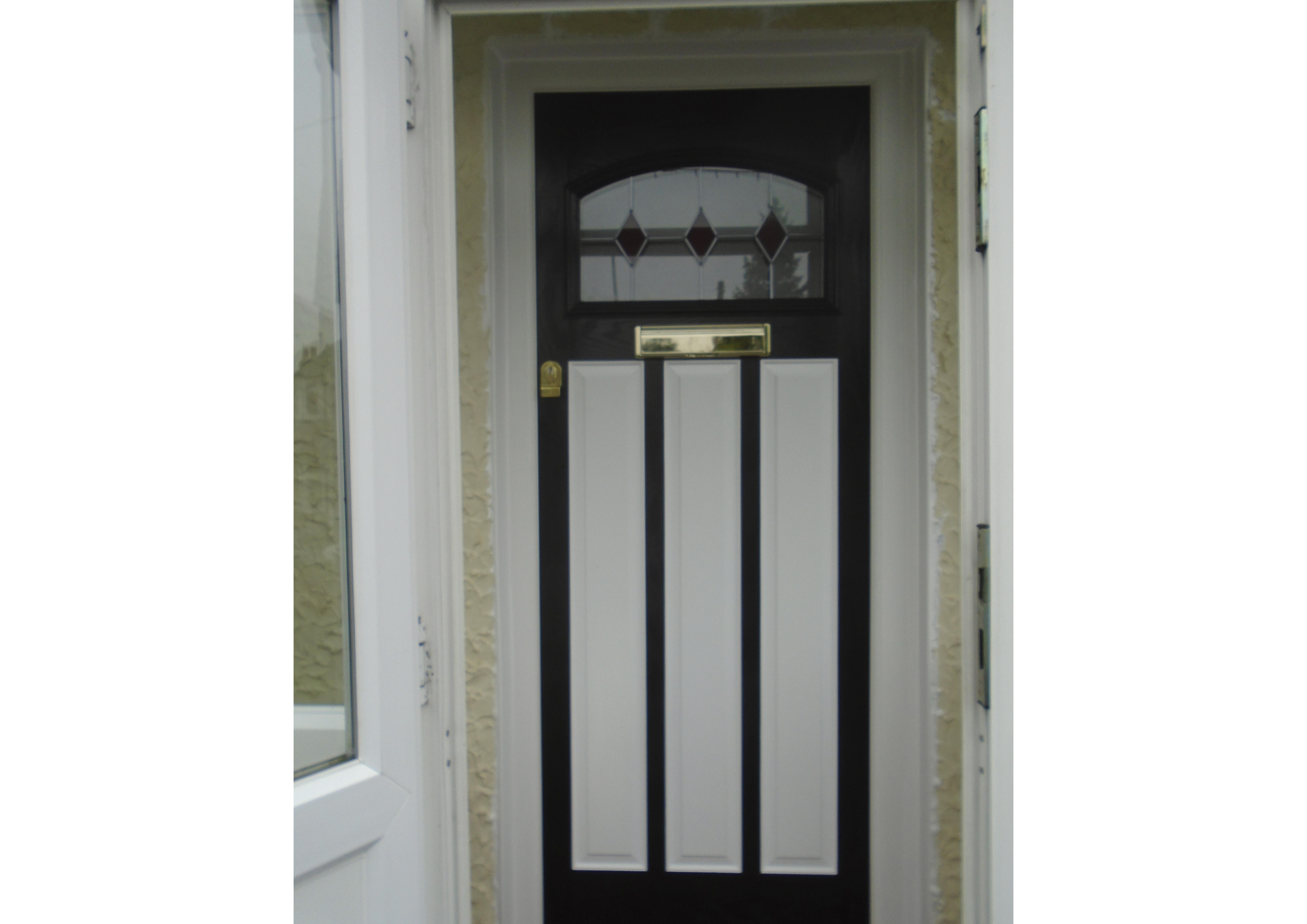 White on Black Unusual Door Design