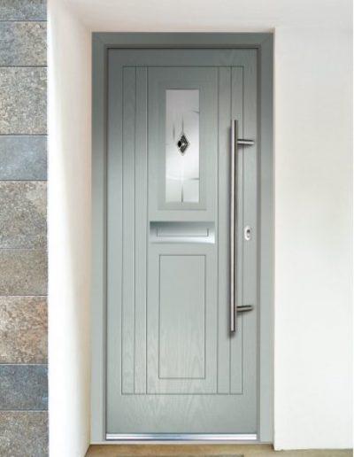 imola door in sliver grey