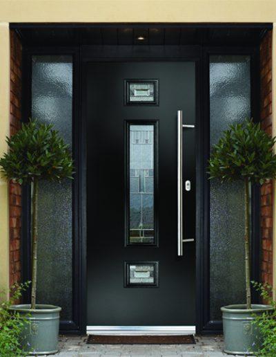 naples door in black