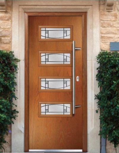 pisa door in golden oak