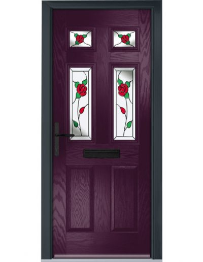 Park Lane door in very berry