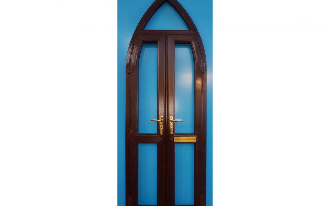 Rosewood Arched French Doors