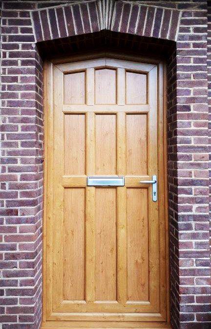 Gothic Style Golden Oak Door