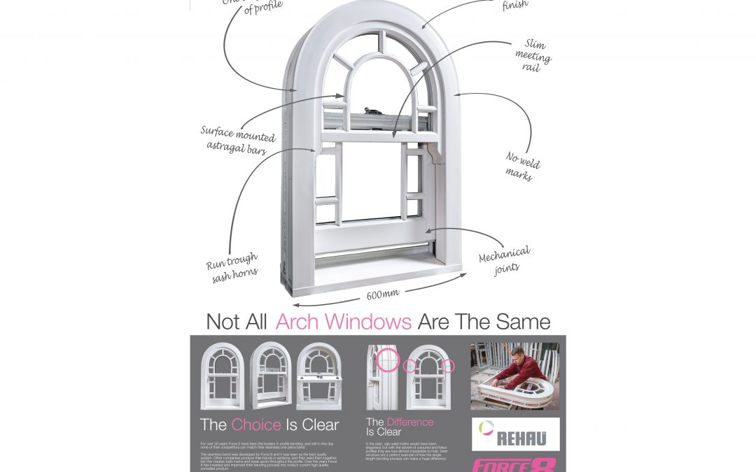 Arched Vertical Sliders from Force 8